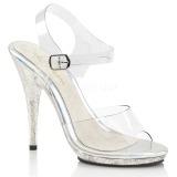 glitter 12,5 cm Fabulicious POISE-508MG dame sandaler med hæl