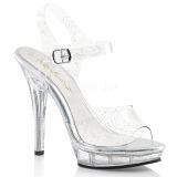 glitter 13 cm Fabulicious LIP-108MMG dame sandaler med hæl