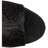 glitter 15 cm DELIGHT-1018MMG ankelstøvletter med åpen tå