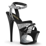 glitter 18 cm Pleaser MOON-728 platform high heels sko