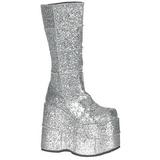 glitter 18 cm STACK-301G platå gotisk støvler til menn