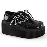 glitter CREEPER-205 platå creepers sko til kvinners