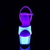 glitter platå 18 cm ADORE-710UVG høyhælte sandaler - pole dance hæler