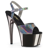 grå 18 cm ADORE-709HGCH hologram platå høye hæler dame
