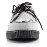 grå suede 2,5 cm CREEPER-602S platå creepers sko til menn