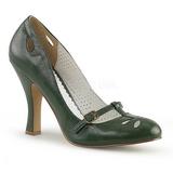 grønn 10 cm SMITTEN-20 pinup pumps sko med lave hæler