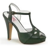 grønn 11,5 cm BETTIE-23 høye fest sandaler med hæl