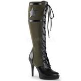 grønn 11,5 cm FUNTASMA ARENA-2022 høye dame støvler med snøring