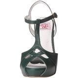 grønn 11,5 cm retro vintage BETTIE-23 høye fest sandaler med hæl