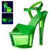 grønn 18 cm SKY-309UVT neon platå høyhælte sandaler sko