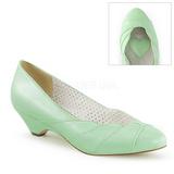 grønn 4 cm LULU-05 pinup pumps sko med lave hæler