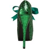 grønn glitter 14,5 cm Burlesque TEEZE-10G platform pumps sko