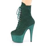grønn glitter 18 cm ADORE-1020FSMG høyhælte ankelstøvletter - pole dance støvletter