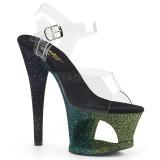 grønn glitter 18 cm Pleaser MOON-708OMBRE pole dancing sko