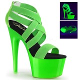 grønn neon 18 cm Pleaser ADORE-769UV pole dancing sko