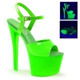 grønn neon 18 cm Pleaser SKY-309UV platå høye hæler sko