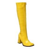 gul lakk 7,5 cm Funtasma GOGO-300 høye støvler dame