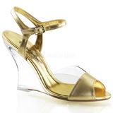 gull 10,5 cm LOVELY-442 wedge sandaler med kilehæl