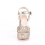 gull 11,5 cm CELESTE-09 glitter sandaler med blokkhæl