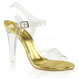 gull 11,5 cm CLEARLY-408 høye fest sandaler med hæl