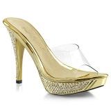 gull 11,5 cm ELEGANT-401 strass steiner platå slip ins dame