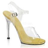 gull 11,5 cm FABULICIOUS GALA-08 høye fest sandaler med hæl