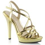 gull 13 cm Fabulicious LIP-113 dame sandaler med hæl