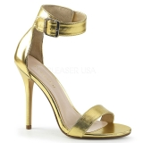 gull 13 cm Pleaser AMUSE-10 dame sandaler med hæl