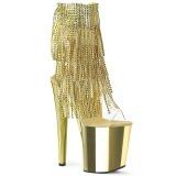 gull 15,5 cm XTREME-1017RSF høye ankelstøvletter med frynser til dame