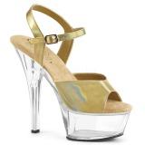 gull 15 cm KISS-209BHG platform høyhælte sko