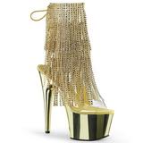 gull 18 cm ADORE-1017RSF høye ankelstøvletter med frynser til dame