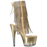 gull 18 cm ADORE-1017RSFT høye ankelstøvletter med frynser til dame