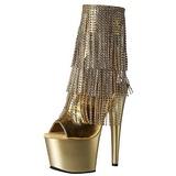 gull 18 cm ADORE-1024RSF høye ankelstøvletter med frynser til dame