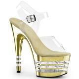 gull 18 cm ADORE-708CHLN høyhælte sandaler krom platå
