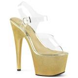 gull 18 cm ADORE-708HG hologram platå høye hæler dame