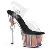gull 18 cm ADORE-708HGI hologram platå høye hæler dame