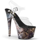 gull 18 cm ADORE-708SP hologram platå høye hæler dame
