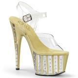 gull 18 cm ADORE-708VLRS high heels platå med strassteiner