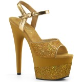 gull 18 cm ADORE-709-2G glitter platå sandaler dame
