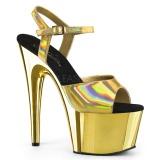 gull 18 cm ADORE-709HGCH hologram platå høye hæler dame