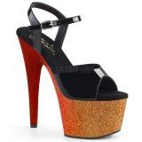 gull 18 cm ADORE-709OMBRE glitter platå sandaler dame