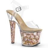 gull 18 cm RADIANT-708HHG hologram platå høye hæler dame