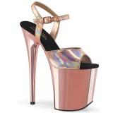 gull 20 cm FLAMINGO-809HG pleaser høye hæler for kvinner
