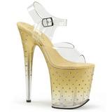 gull 20 cm STARDUST-808T platå høyhælte sandaler sko