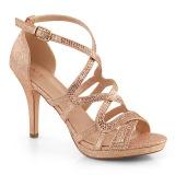 gull 9,5 cm DAPHNE-42 sandaletter med stiletthæl