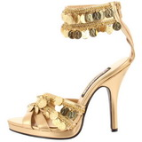 gull 9,5 cm GYPSY-03 dame sandaletter lavere hæl