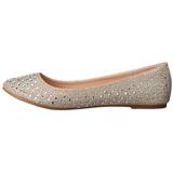 gull TREAT-06 krystall stein ballerinasko dame med flate hæl