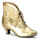 gull blondestoffer 5 cm DAME-05 dame ankelstøvletter med snøring