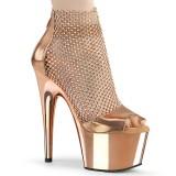 gull farge høye hæler 18 cm ADORE-765RM glitter platå høye hæler