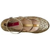 gull glimmer 10 cm QUEEN-01 store størrelser pumps sko